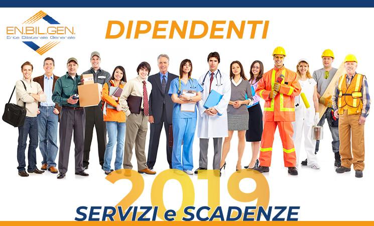 Calendario Bandi Servizi per i Lavoratori - Anno 2019
